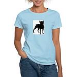 Boston Terrier Silhouette Women's Light T-Shirt