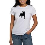 Boston Terrier Silhouette Women's T-Shirt