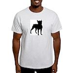 Boston Terrier Silhouette Light T-Shirt