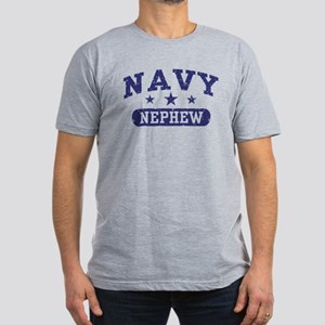 Navy Nephew Men's Fitted T-Shirt (dark)