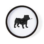 Bulldog Silhouette Wall Clock