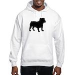 Bulldog Silhouette Hooded Sweatshirt
