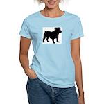 Bulldog Silhouette Women's Light T-Shirt
