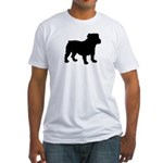 Bulldog Silhouette Fitted T-Shirt