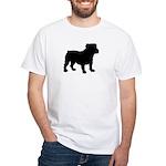 Bulldog Silhouette White T-Shirt