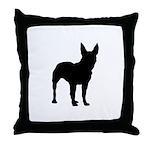 Bullterrier Silhouette Throw Pillow
