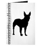Bullterrier Silhouette Journal