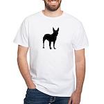 Bullterrier Silhouette White T-Shirt