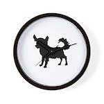 Chihuahua Silhouette Wall Clock