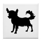 Chihuahua Silhouette Tile Coaster
