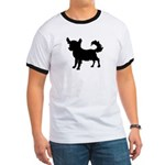 Chihuahua Silhouette Ringer T