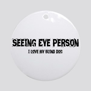 Seeing Eye Person Ornament (Round)