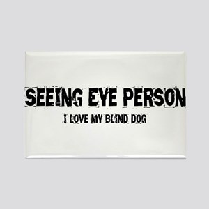 Seeing Eye Person Rectangle Magnet