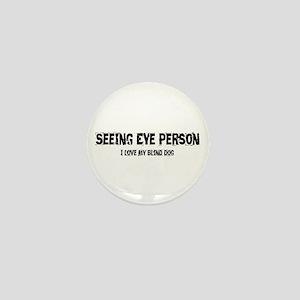 Seeing Eye Person Mini Button