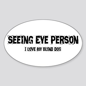 Seeing Eye Person Sticker (Oval)