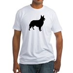 Collie Silhouette Fitted T-Shirt