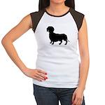 Dachshund Silhouette Women's Cap Sleeve T-Shirt