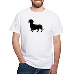 Dachshund Silhouette White T-Shirt