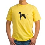 Dalmation Silhouette Yellow T-Shirt