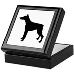 Doberman Pinscher Silhouette Keepsake Box