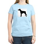 Doberman Pinscher Silhouette Women's Light T-Shirt