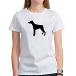 Doberman Pinscher Silhouette Women's T-Shirt