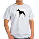 Doberman Pinscher Silhouette Light T-Shirt
