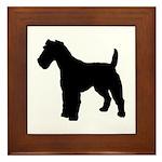 Fox Terrier Silhouette Framed Tile