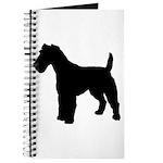 Fox Terrier Silhouette Journal