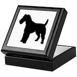 Fox Terrier Silhouette Keepsake Box