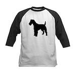 Fox Terrier Silhouette Kids Baseball Jersey