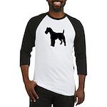 Fox Terrier Silhouette Baseball Jersey