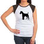 Fox Terrier Silhouette Women's Cap Sleeve T-Shirt