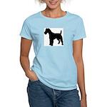Fox Terrier Silhouette Women's Light T-Shirt