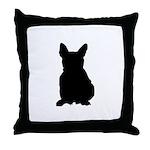 French Bulldog Silhouette Throw Pillow