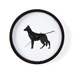 German Shepherd Silhouette Wall Clock