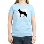 German Shepherd Silhouette Women's Light T-Shirt