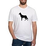 German Shepherd Silhouette Fitted T-Shirt