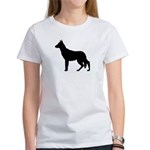 German Shepherd Silhouette Women's T-Shirt