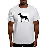 German Shepherd Silhouette Light T-Shirt