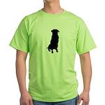 Golden Retriever Silhouette Green T-Shirt