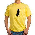 Golden Retriever Silhouette Yellow T-Shirt