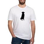 Golden Retriever Silhouette Fitted T-Shirt