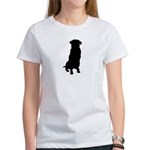 Golden Retriever Silhouette Women's T-Shirt