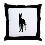 Great Dane Silhouette Throw Pillow