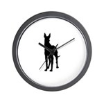 Great Dane Silhouette Wall Clock