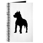 Pit Bull Terrier Silhouette Journal