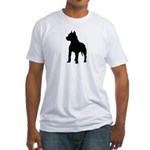 Pit Bull Terrier Silhouette Fitted T-Shirt