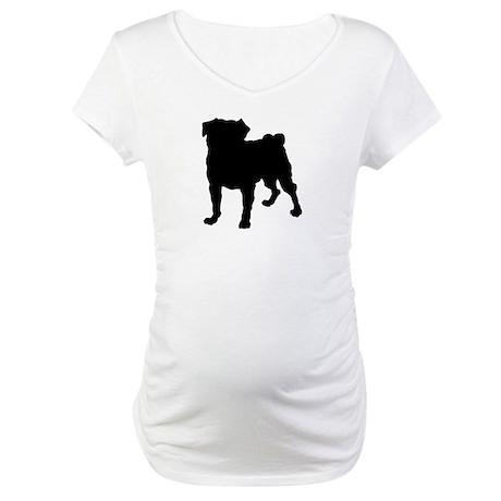 Pug Silhouette Maternity T-Shirt