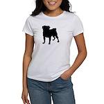Pug Silhouette Women's T-Shirt